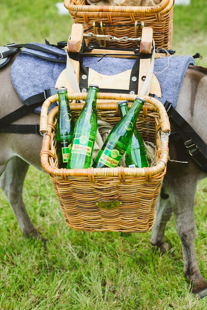 Beer donkey Topo Chico basket