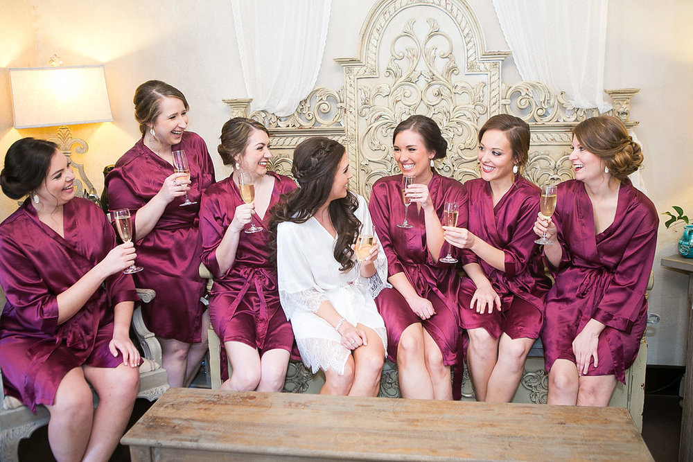 Lauren celebrating with her bridesmaids | Dustin Finkelstein Photography
