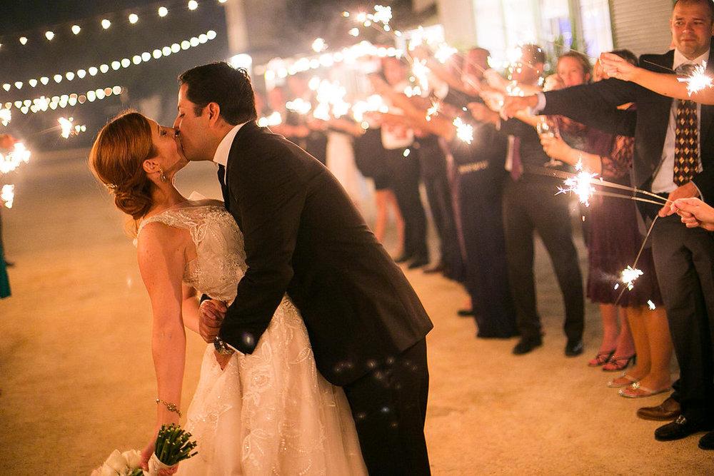 Lynne & Jeff's sparkler exit | Dustin Finkelstein Photography