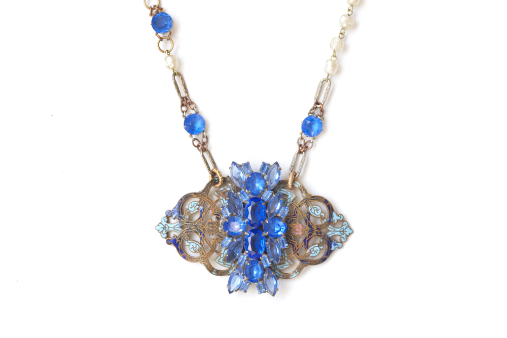 Cerulean Ceveret Necklace, Spring Preview