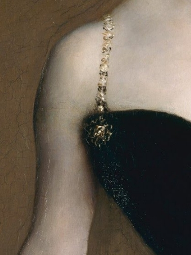 Above and Left : John Singer Sargent,  Madame X, oil on canvas,  Metropolitan Museum of Art, painted 1883-84.