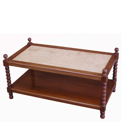 Cane Bobbin Coffee Table #1072B