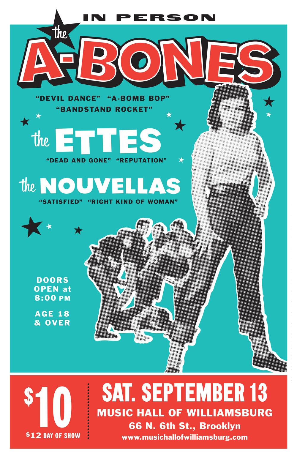The A-Bones concert poster