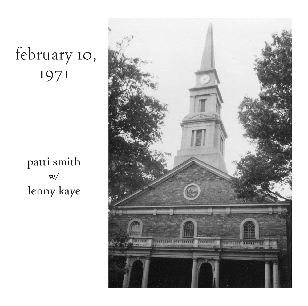 Patti Smith - February 10, 1971 CD cover