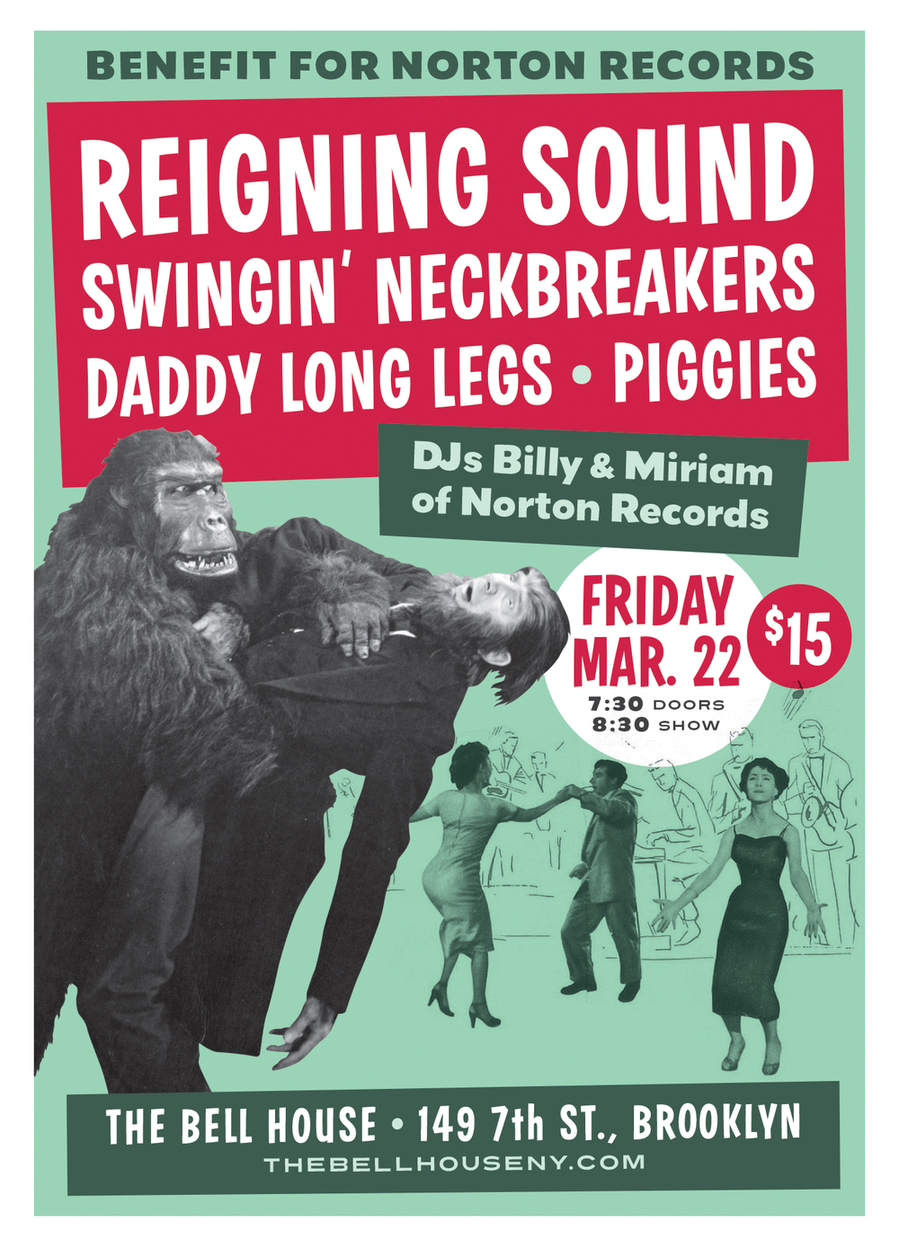 Norton Records benefit poster