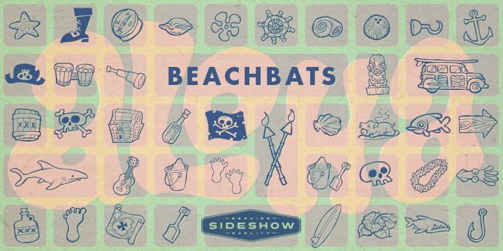 Beachbats font poster