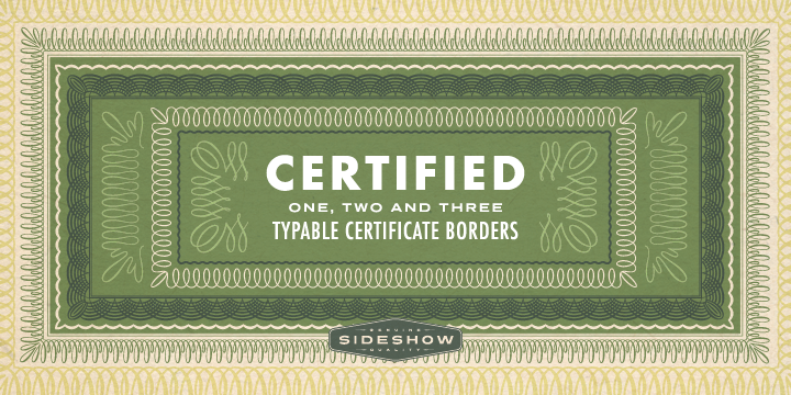 Certified Borders font poster