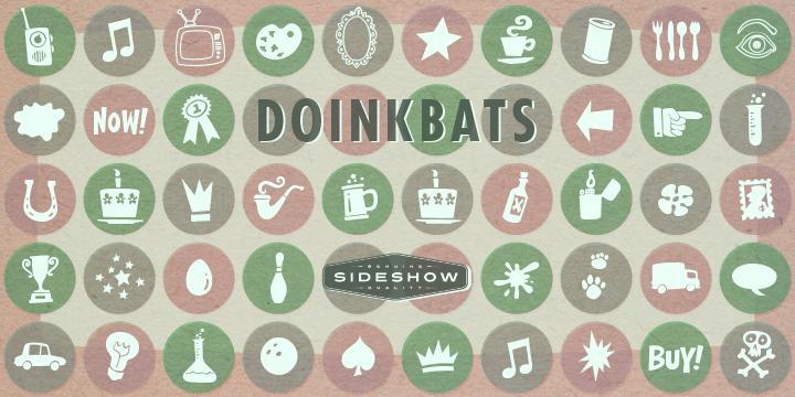 Doinkbats font poster