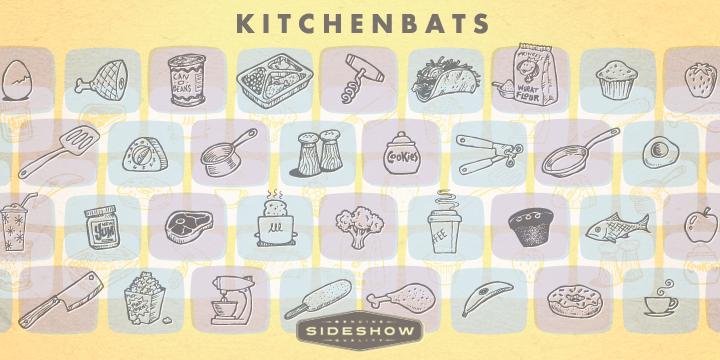 Kitchenbats font poster
