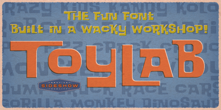 Toylab font poster