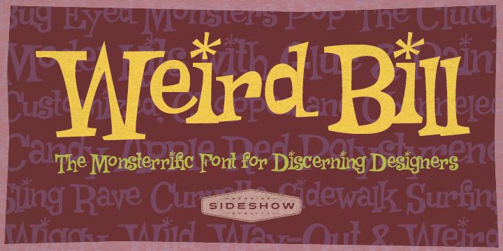 Weird Bill font poster
