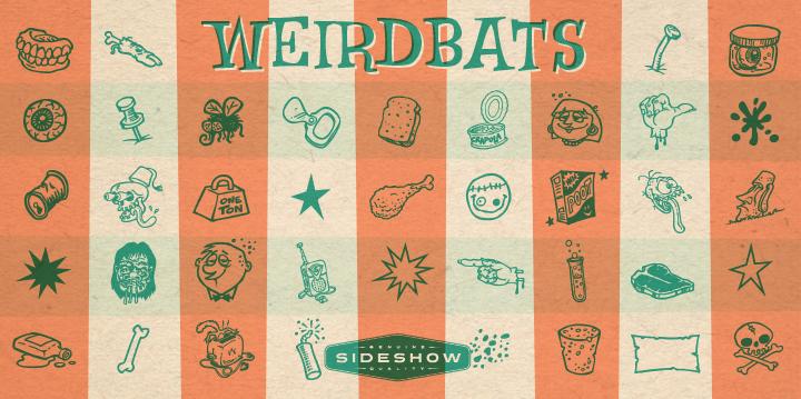 Weirdbats font poster