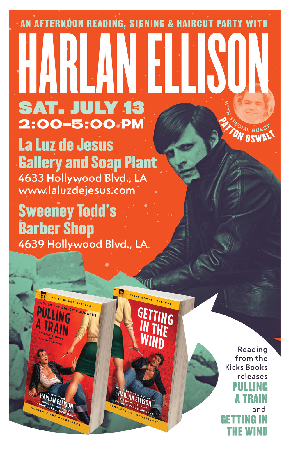 Harlan Ellison reading poster