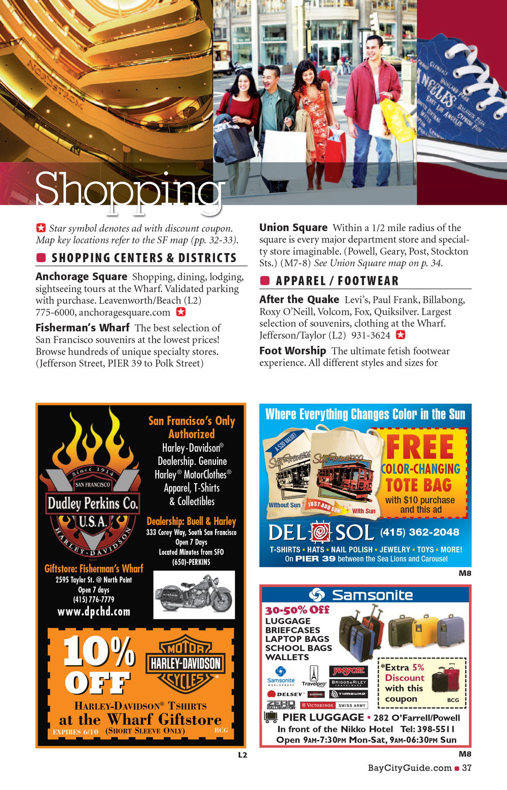Bay City Guide magazine - Shopping
