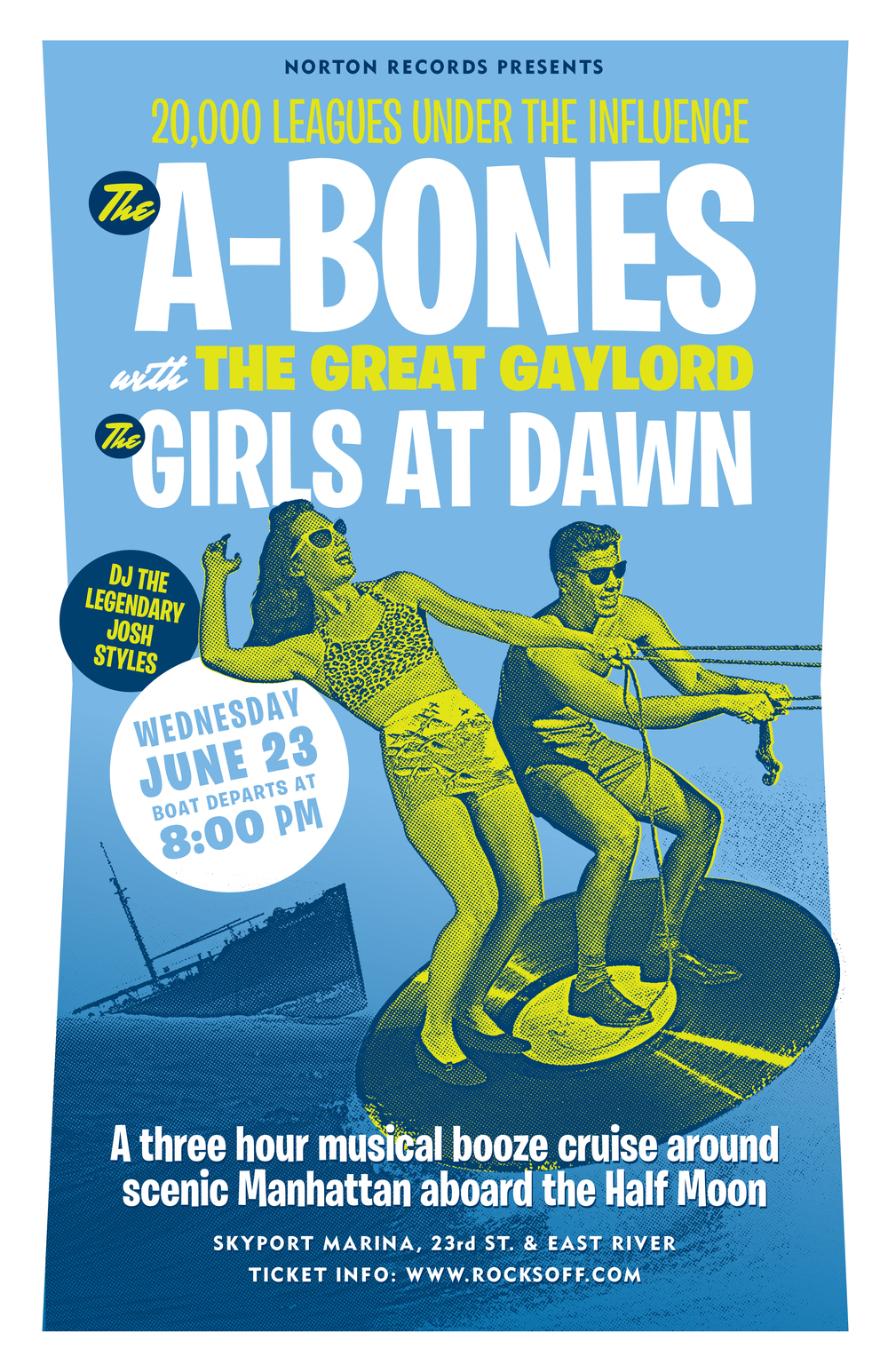 The A-Bones boat cruise poster