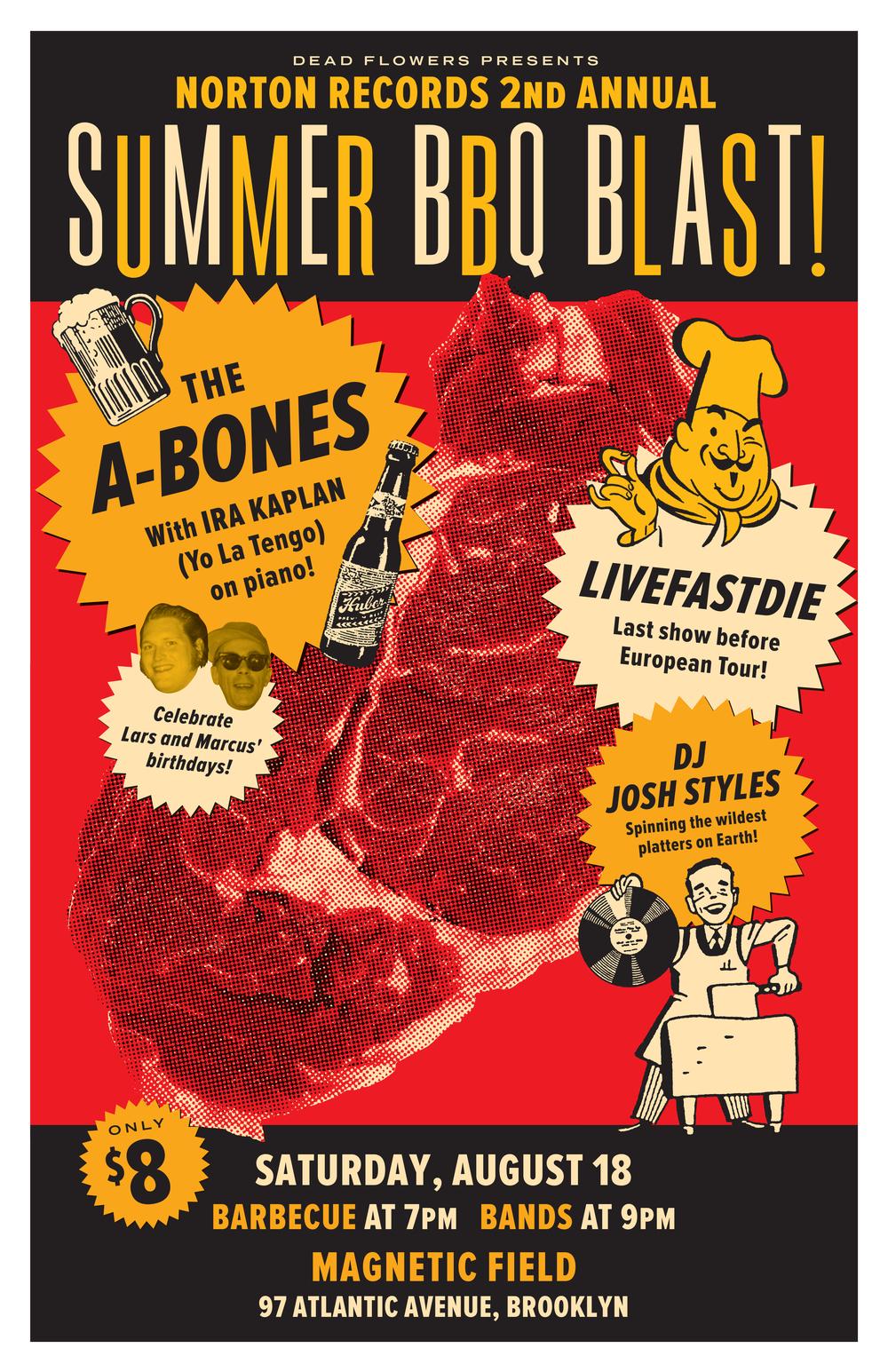 A-Bones BBQ Blast poster