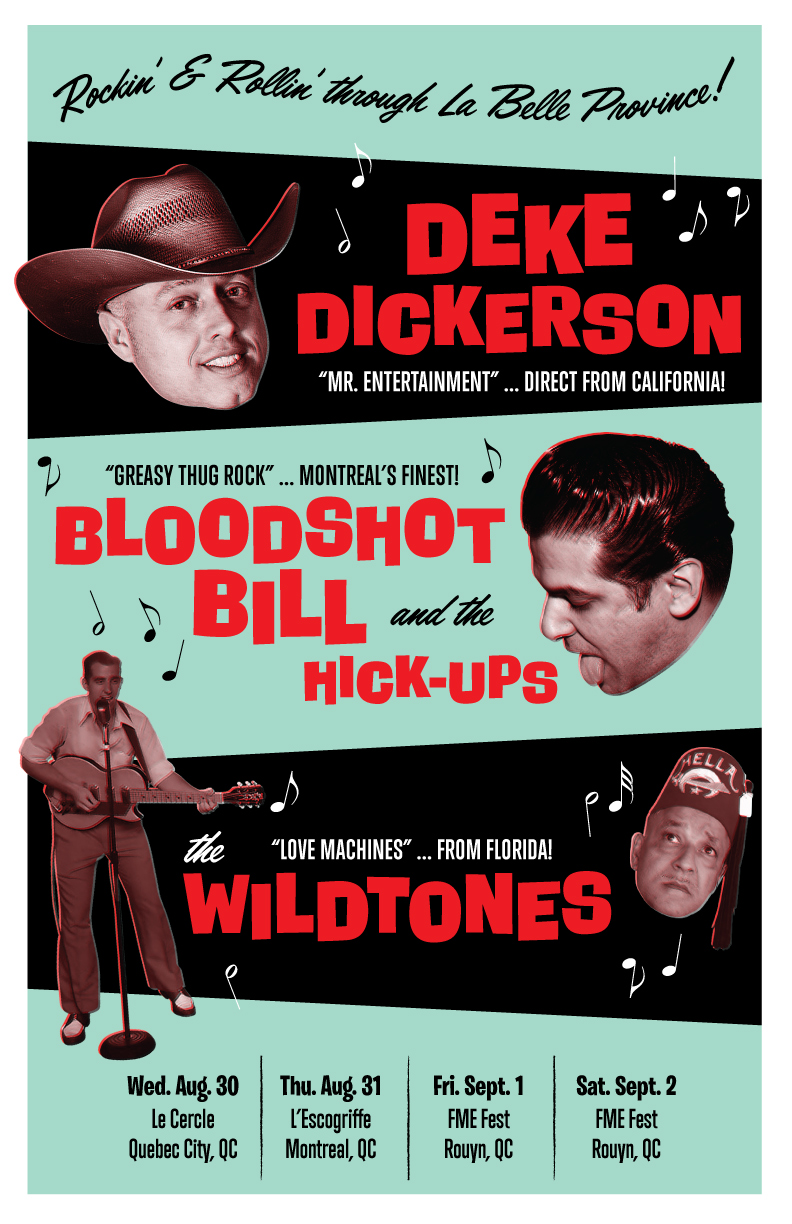 Deke Dickerson/Bloodshot Bill Tour poster