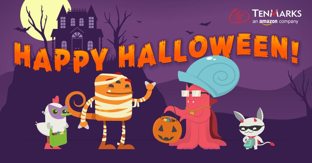 TenMarks Halloween banner