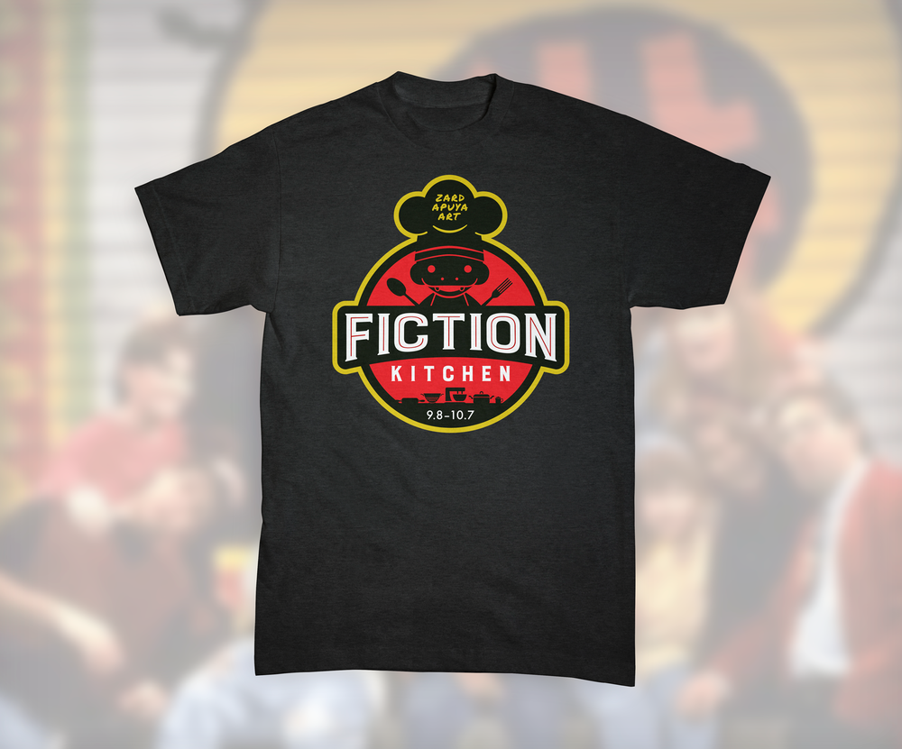 T-shirt designed for the Fiction Kitchen