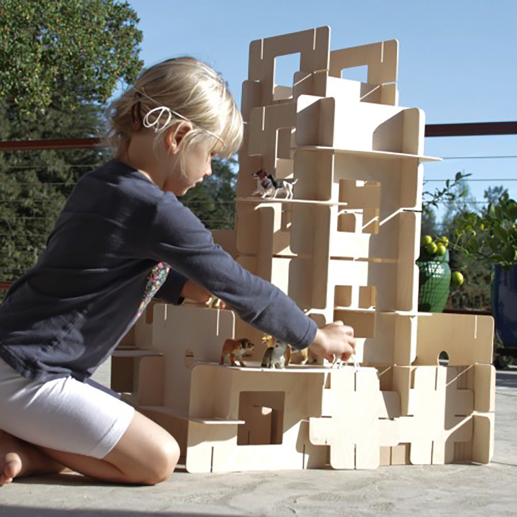 "CLIENT: Kodo Kids PROJECT: HighRise Building Set MATERIAL: 1/8"" Birch Plywood PHOTO CREDIT: Kodo Kids"