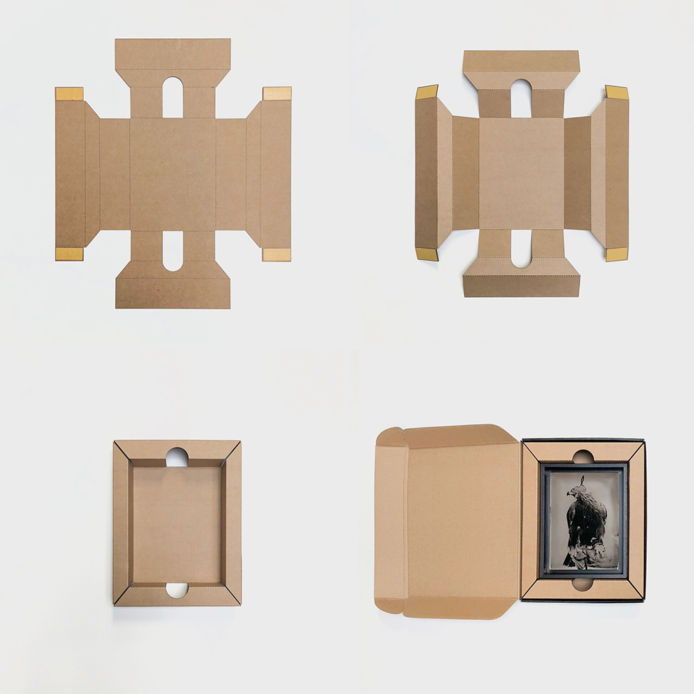 CLIENT: Lyle Owerko PROJECT: Photo Packaging PROCESS: Cut and Perforated E-flute Cardboard