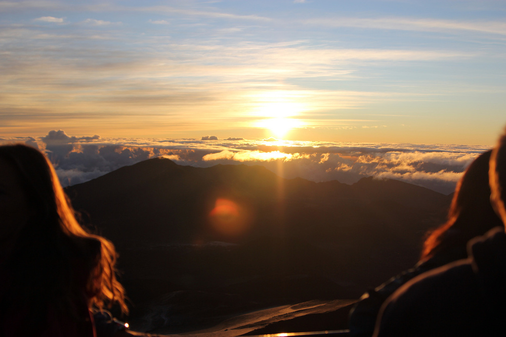 Sunrise over Haleakala, in Maui Hawaii 2011