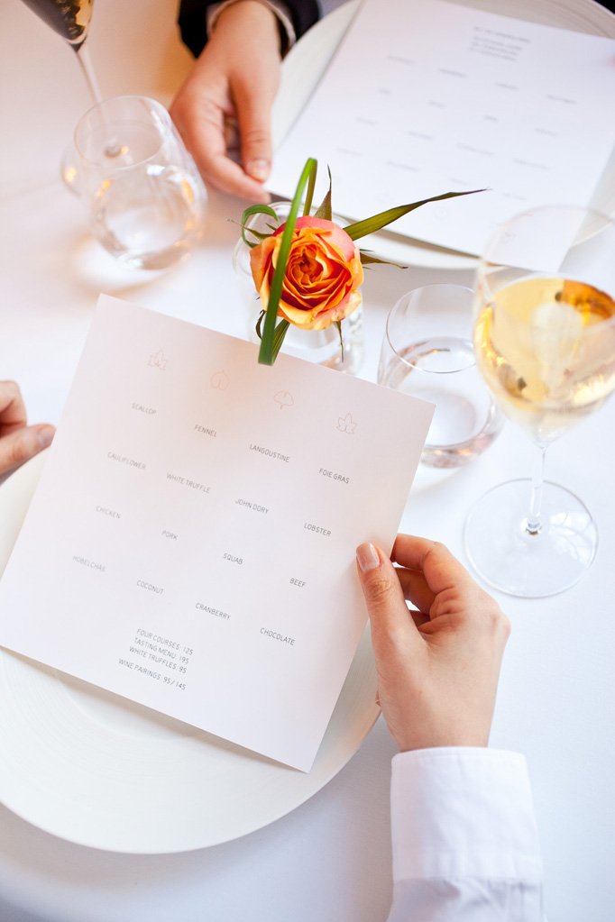 Menu designed by JULIETTE CEZZAR.
