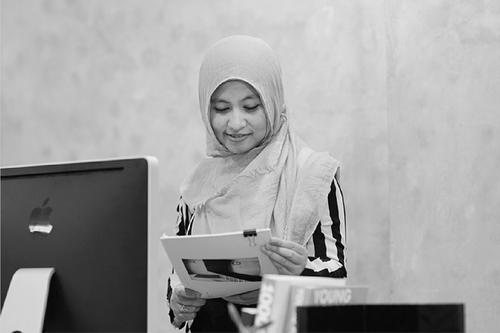 NURLANDIA MHAS   Nurlandia, also called Didi, graduated from Mercubuana University in Jakarta with a D3 title in accounting.She joined Indigo in 2013, and has since been responsible for our administration, billing and day to day office management.