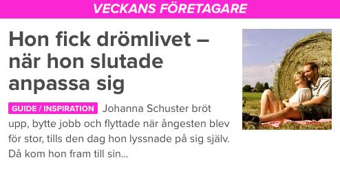 Johanna Schuster Driva eget