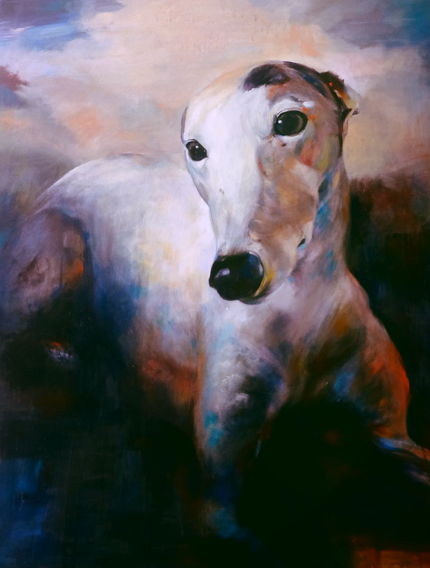 Berry Greyhound portrait acrylic 150 x 100 sue gardner.png