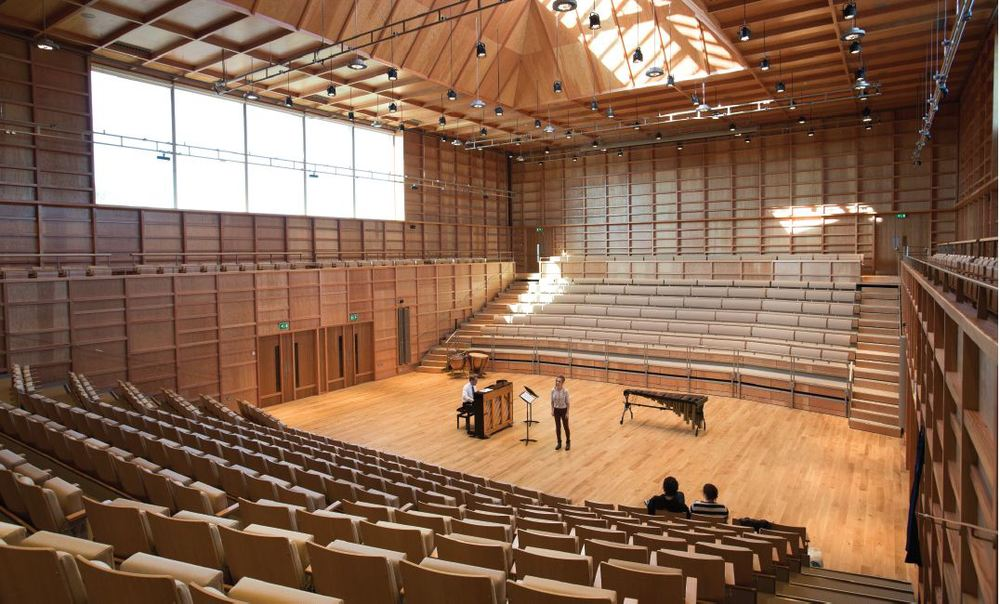 Fixed seating for music centre