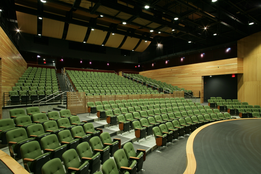 Auditorium, Fixed and retractable seating system