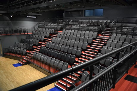 Retractable seating system for University of the Arts