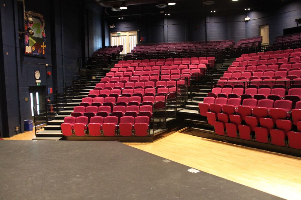 Retractable seating system for Northampton School for Girls