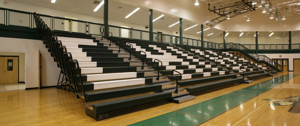 Sports hall bleacher seating