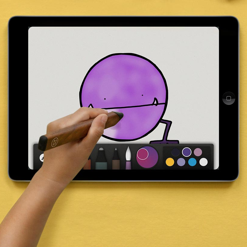 Paper by 53 is a neat sketching app for iPad, use exported images in your presentation