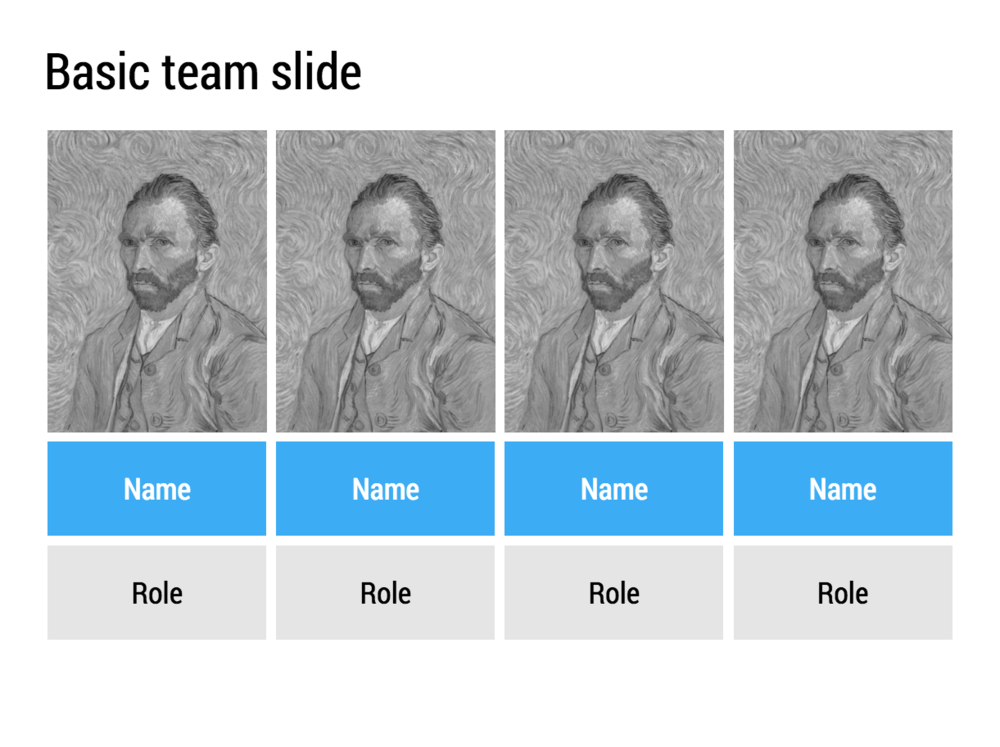 A simple side-by-side image grid to list your team members