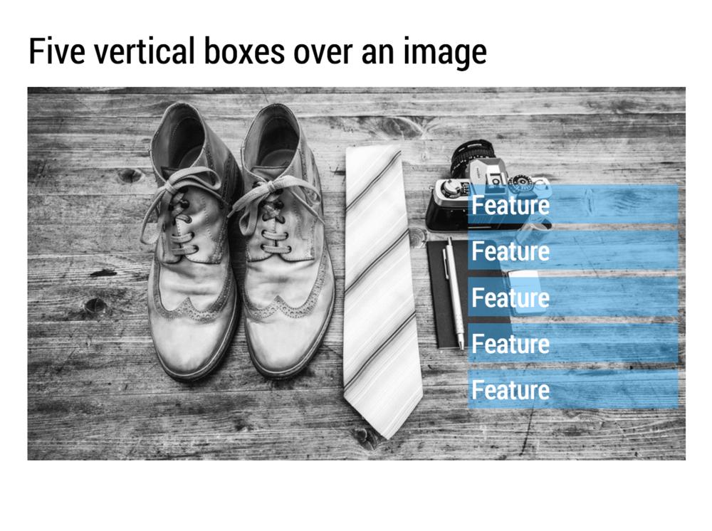 Horizontal boxes make space for longer sentences