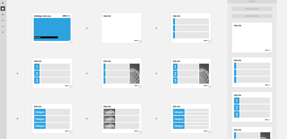 A new slidemagic user interface powerpoint templates and we just deployed a new more minimalist user interface for presentation app slidemagic have a look some of the things that have changed over the past toneelgroepblik Choice Image