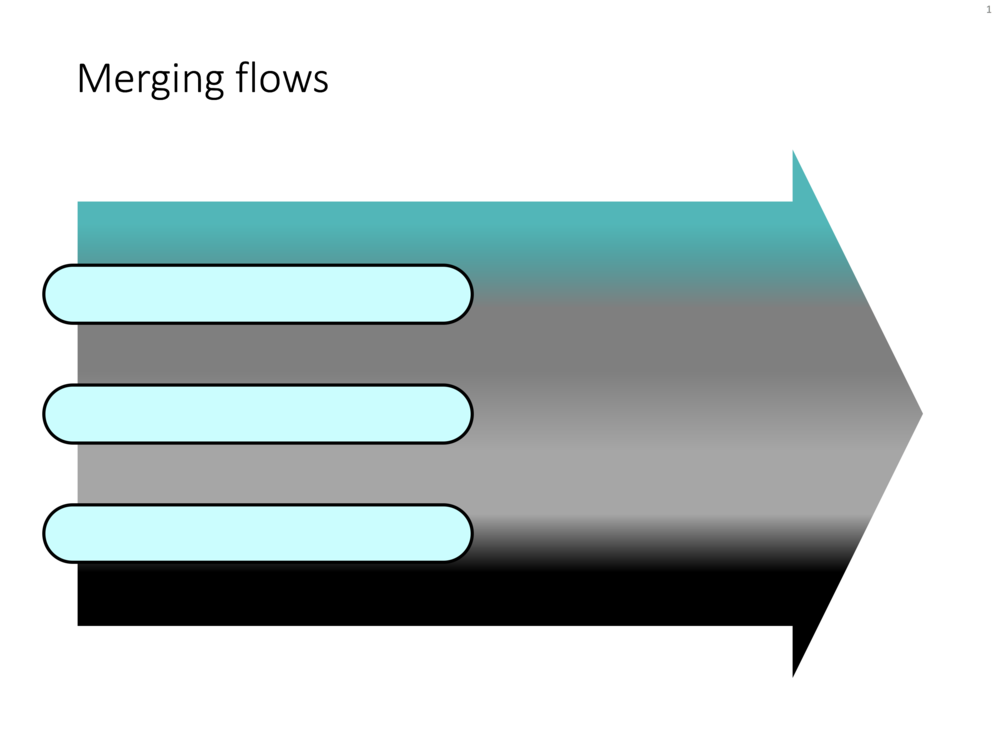 PowerPoint template for a merging flow slide