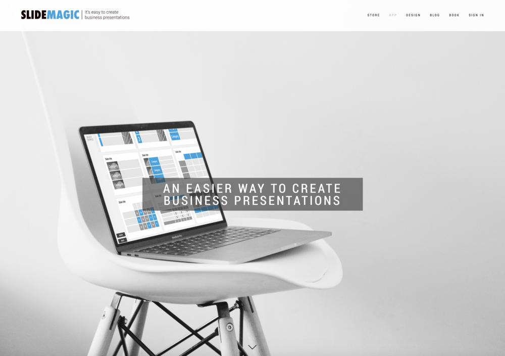 The presentation design app