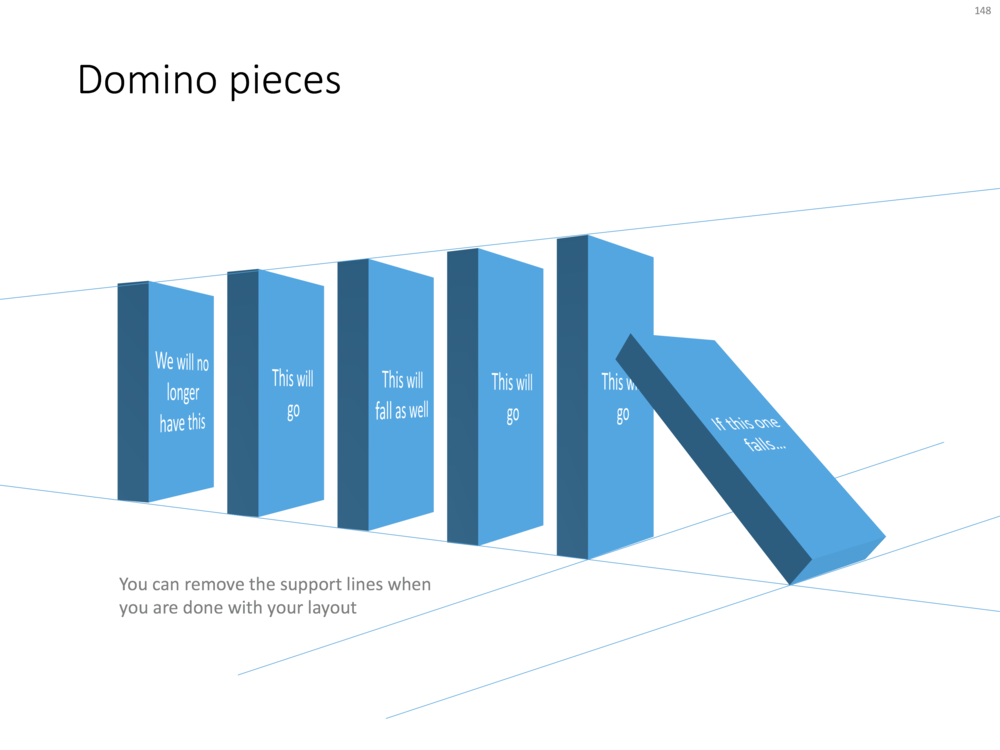 Domino pieces in PowerPoint