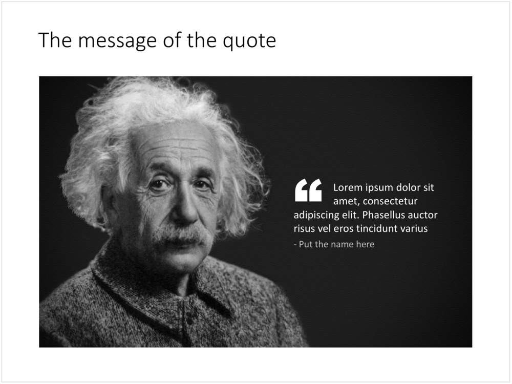 A template for a quote slide