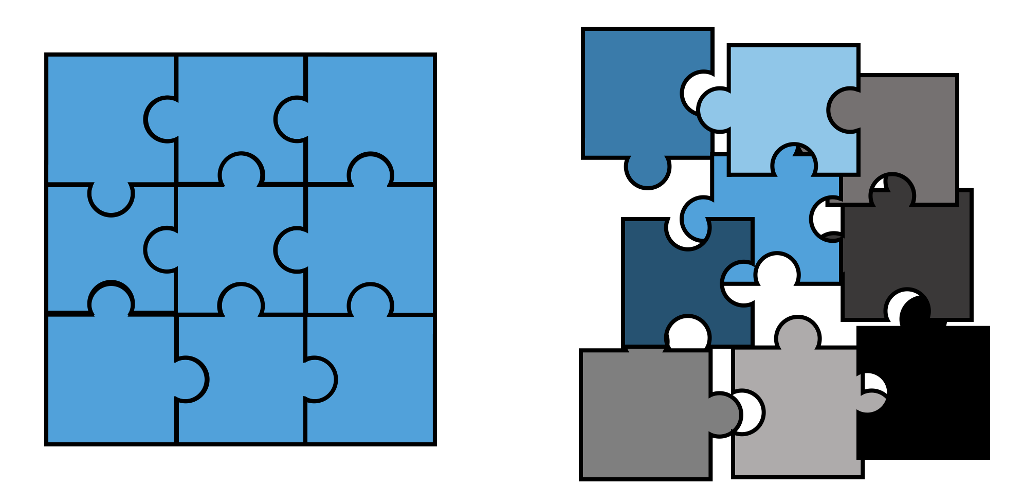 puzzle pieces in powerpoint powerpoint templates and presentation