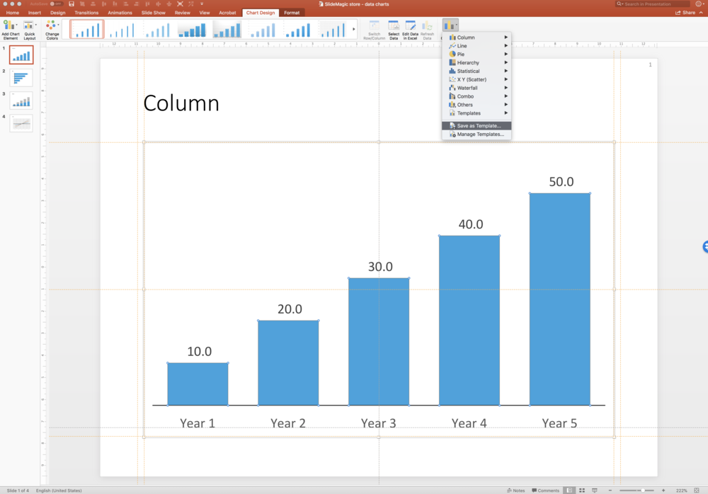 Slidemagic data charts as a default in your powerpoint powerpoint saving powerpoint data chart as templateg toneelgroepblik Choice Image