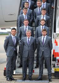England football team on their way