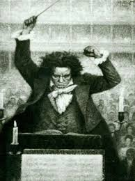 Beethoven conducting his 9th Symphony