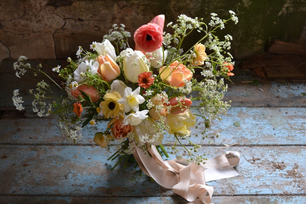 seasonal bouquet with cow parsley by The Garden Gate Flower Company