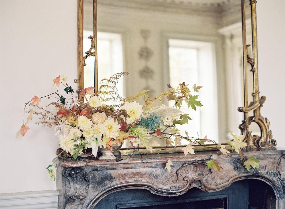 Mantle piece arrangement at Boconnoc House