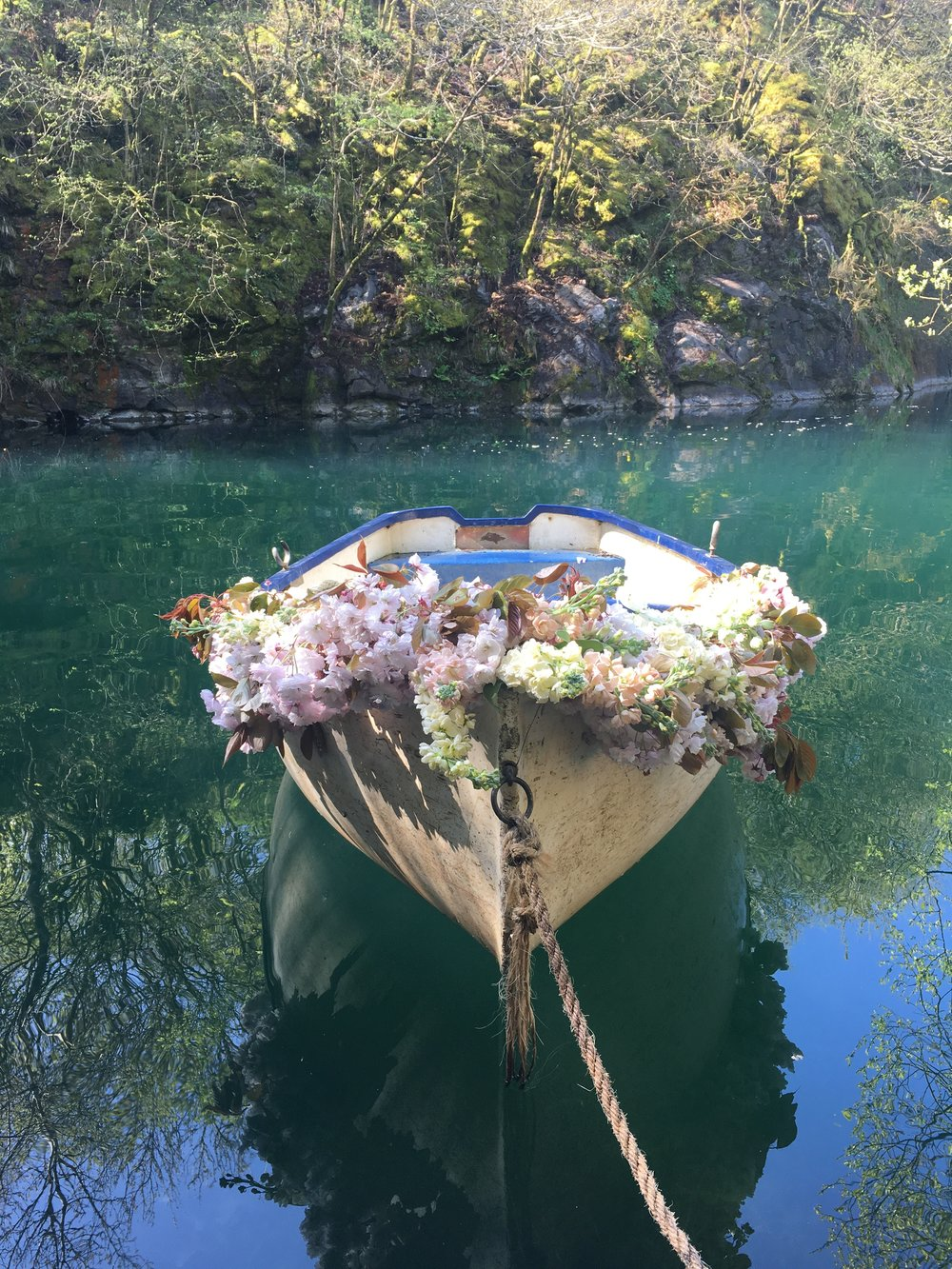 Flowers on boat